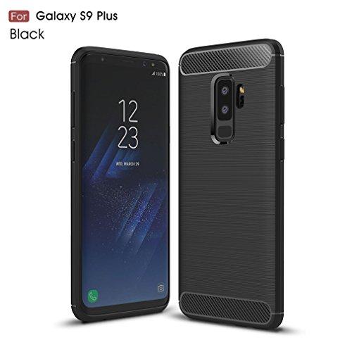Samsung S9 Plus Hülle, CHcase Flexiblem Ultra Slim Carbon Fibre TPU Case Silikon Hybrid Schutzhülle Kohlenstoff-fasern Tasche Slim-Fit Cover für Samsung Galaxy S9 Plus -Blau