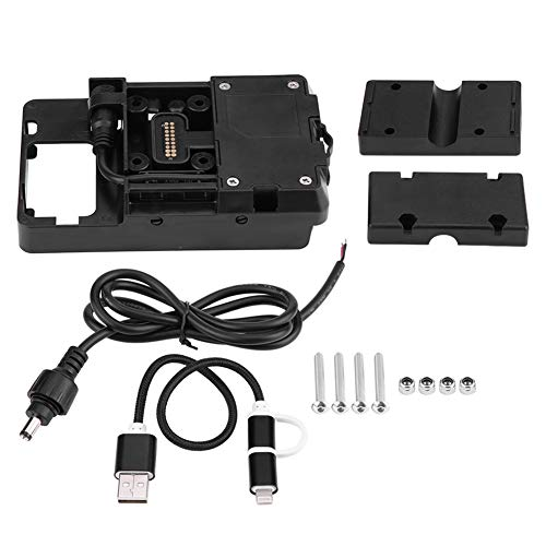 Nosii Staffa per Supporto per Cellulare per Caricabatterie USB per Moto BMW R1200GS LC & Adventure 2014-2017