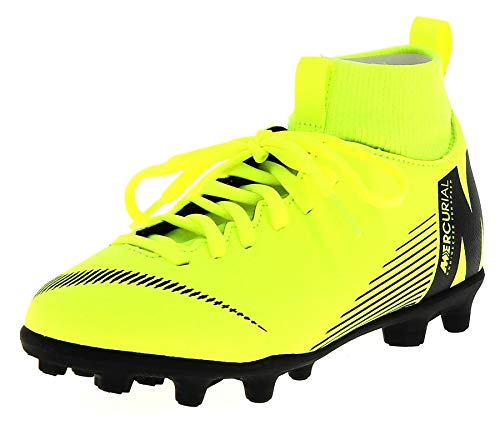 Nike Unisex-Kinder Jr Superfly 6 Club Mg Fußballschuhe, Grün (Volt/Black 701), 36 EU (3.5 UK)