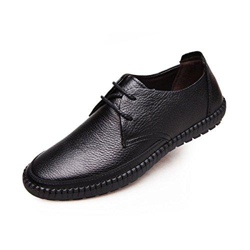 LYZGF Papa Des Hommes Automne Loisirs Mode Harnais De Conduite Confortable Et Des Ensembles De Chaussures Black1