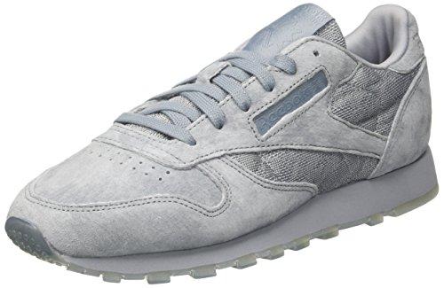 Reebok Damen Classic Leather Lace Sneakers, Grau (Meteor Grey/White), 36 EU -
