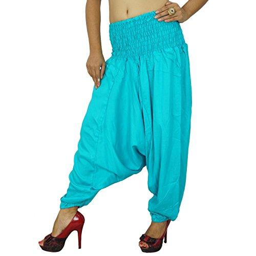 Rayon Tissu Bleu Harem Wear Bottom Été Pantalon Porter Pantalons Indiens Bleu