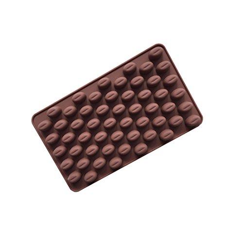 Basico Silikon 55 Hohlraum Mini Kaffeebohnen Schokolade Zucker Candy Mould Cake Decor