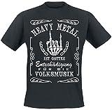 Heavy Metal T-Shirt schwarz XL