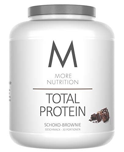 More Nutrition Total Protein - Whey & Casein Zur Optimalen Proteinsynthese 1 x 1500 g (Schoko Brownie)