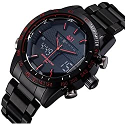 Beautiful Watches , ASJ Luxury Brand Digital Electronics Sport Watch Full Stainless Steel Outdoor Diving Army Male