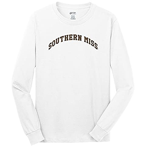 NCAA Southern Mississippi Golden Eagles Youth Long Sleeve T-Shirt, X-Large, White