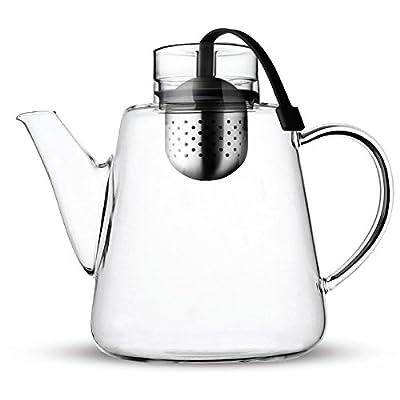 Vialli Design AMO Théière en verre avec infuseur 1,5L Noir