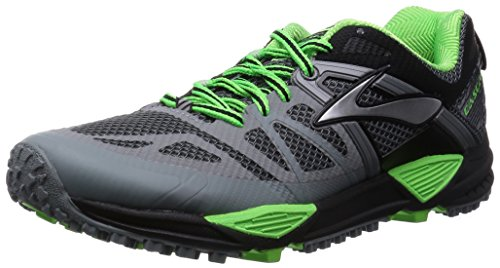 Brooks Cascadia 10, Chaussures de course homme multicolore (Primer Grey/Black/Green Gecko)
