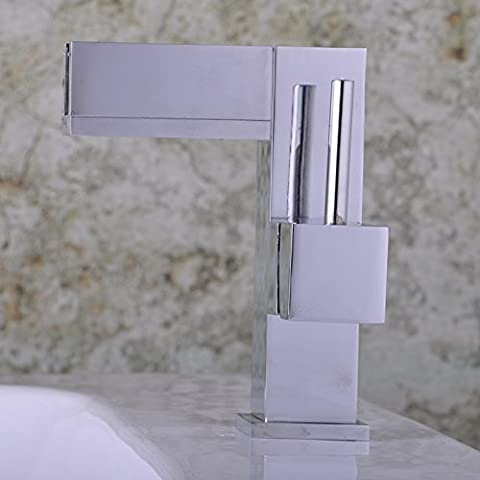 LINA-Instalación hardware sanitarios agua elevación tipo lavabo rectangular simple mezclador de acero inoxidable