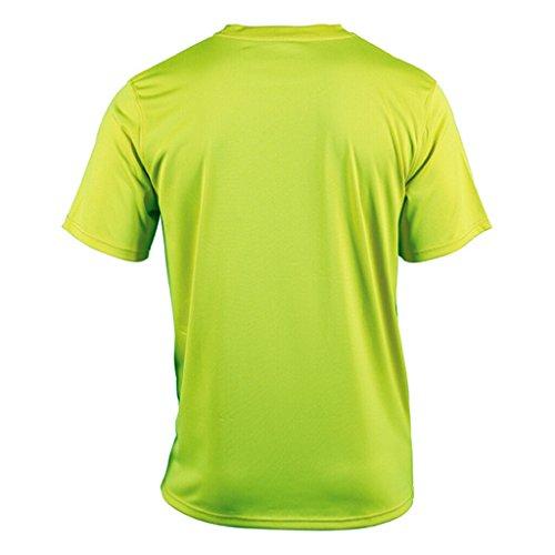 JAMES & NICHOLSON Funktions T-Shirt für Freizeit und Sport acid-yellow