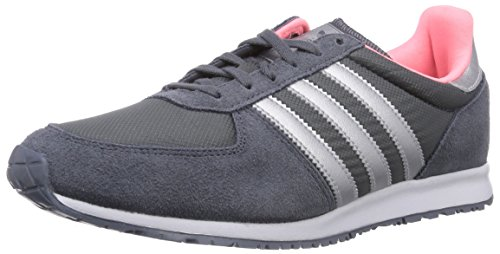 Adidas Adistar Racer, Chaussons Sneaker Femme Gris (onix/silver Metallic/light Flash Red S15)