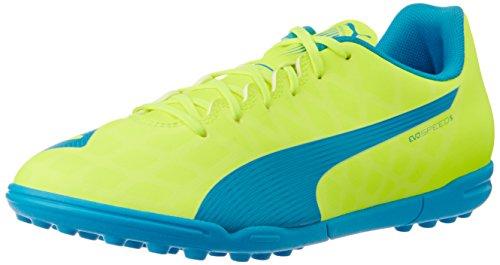 Puma  evoSPEED 5.4 TT, Chaussures de Football Compétition homme - jaune - Gelb (safety yellow-atomic blue-white 04), 44.5 EU