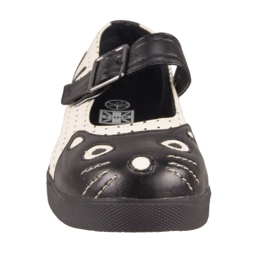 T.U.K. Mary Jane Plimmies A8161L creme-black Black