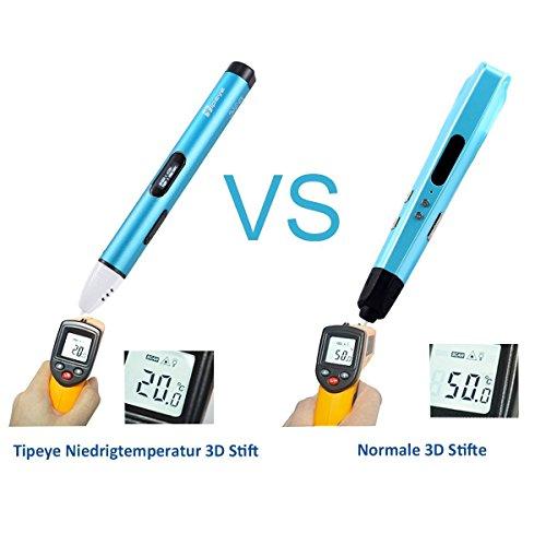 3D Stifte Set mit OLED Display, niedrige Temperatur 3D Pen, sicher für Kinder, Erwachsene und Bastler zu kritzeleien, basteln, malen und 3D drücken (nur kompatibel mit PCL Filament,nicht kompatibel mit PLA und ABS ) - 4