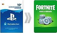 PSN Credito para Fortnite 1000 V-Bucks | Código de descarga PS4 - Cuenta española