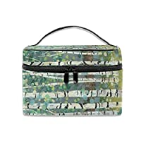 Portable Travel Toiletry Bag Organizer,Birch Forest Cosmetic Bags for Women Girl,Makeup Bag, Storage Bag
