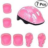 Clispeed Casco protettivo per bambini con gomitiere da polso per bambini Accessori per bici (rosa)