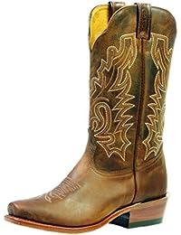 Botas de los EE.UU.-Botas western BO-3166-91-C (pie normal), diseño de mujer, color marrón
