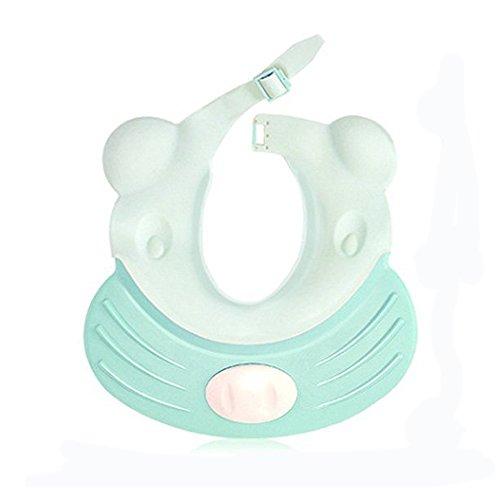 Hangnuo a prova di perdite bagnetto visiera per i più piccoli bambini–regolabile in silicone doccia hat capelli shield