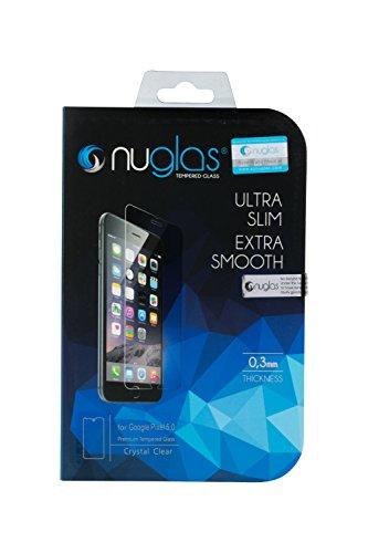 511e3895eaf Nuglas Protector Google Pixel 5,0 Cristal Vidrio Templado Premium Dureza 9H  Ultra Delgado Transparente