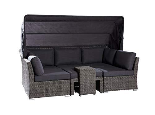 Wholesaler GmbH LC Garden Muschel-Set Loungebank Barcelona Relax grau-Mix