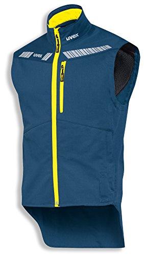 uvex Safety metal 8942 Leichte Arbeitsweste, 88% Baumwolle, Sicherheitsweste für Herren und Damen, auch als Freizeitweste verwendbar, mit Reflektoren, Grau-Orange, Größe XL