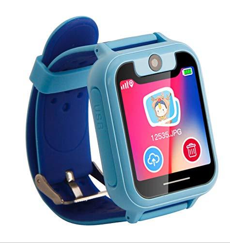 WE-WIN Kinder Smart Watch Telefon, GPS Tracker für 3-12 Jahre Jungen Mädchen Kinder Geschenk mit Telefon SOS Nachrichten Taschenlampe Wecker Etc.