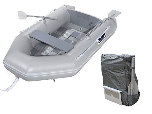 AWN Schlauchboot Tragbar mit Rucksack Riemen Yachttender Faltbarer Spiegel Paddelboot 2,24 m Lang 24 kg 2 Personen Angel Boot