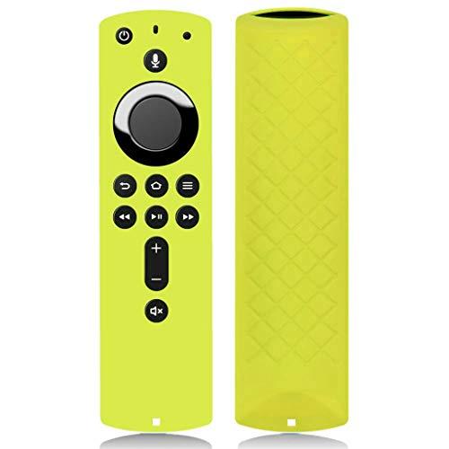 Gaddrt Fernbedienungen Silicone Schutzhülle Für Amazon Fire TV Stick 4K TV Stick Fernsteuerungsfall Schutzhülle (Yellow)
