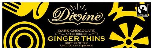 Divine Chocolate - Dark Chocolate After Dinner Ginger Thins - 200g (Thin 200)