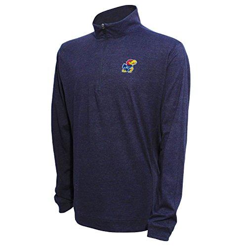 1/4Zip Pullover, herren, 1/4 Zip Pullover, Heather Blue, Large
