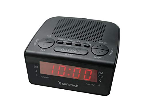 Sunstech FRD18BK - Radio despertador digital PLL alarma