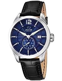 Jaguar Watches J663/2 - Reloj analógico de cuarzo para hombre, correa de cuero color negro