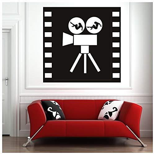 azutura Filmkamera Wandtattoo Zaubermädchen Wand Sticker Retro Film Wohnkultur verfügbar in 5 Größen und 25 Farben Klein Moos Grün