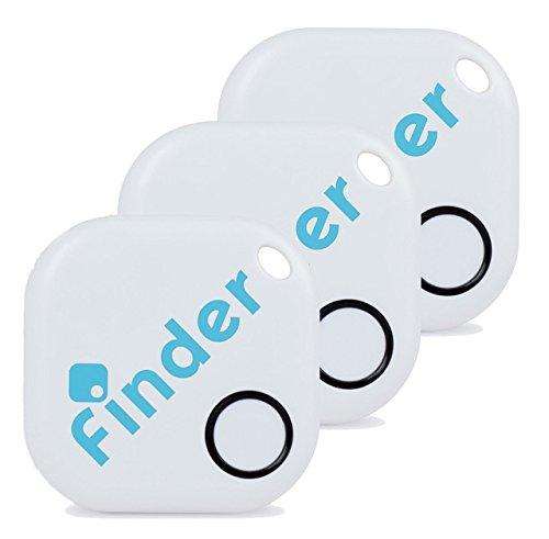musegear® App Schlüsselfinder - weiß - 3er Pack - Schlüssel, Keys, Handy, Fernbedienung wieder-finden - Smartphone Bluetooth GPS