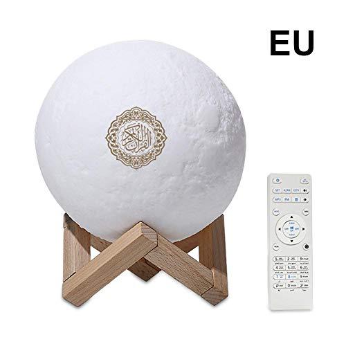 Adminitto88 Quran Smart Touch Bluetooth-Lautsprecher, Buntes Nachtlicht Der Mond-Lampen-LED, Drahtloser Quran-Sprecher-Fernsteuerungs-Kleiner Mondschein