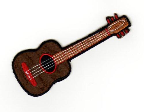 Aufnäher Bügelbild Iron on Patches Applikation Akustik Western Gitarre Musik