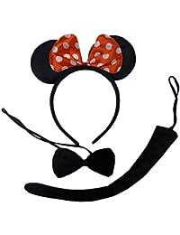 Charmant Minnie Mouse Costume Ensemble avec les oreilles, la queue et nœud papillon