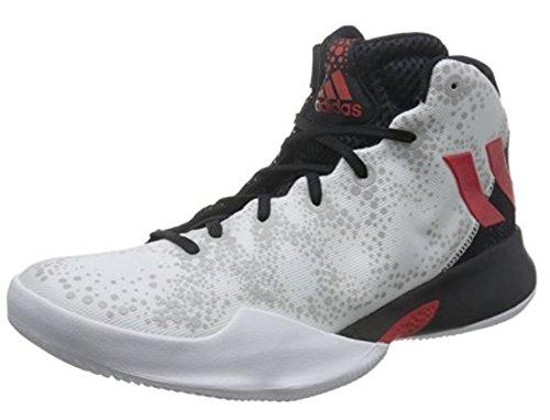 adidas Herren Crazy Heat Basketballschuhe, (Ftwbla/Escarl/Negbas), 49 1/3 EU