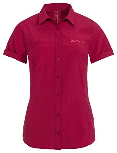 Vaude Damen Rosemoor Bluse, Crimson Red, 44 - Wieder Damen Rosa T-shirt