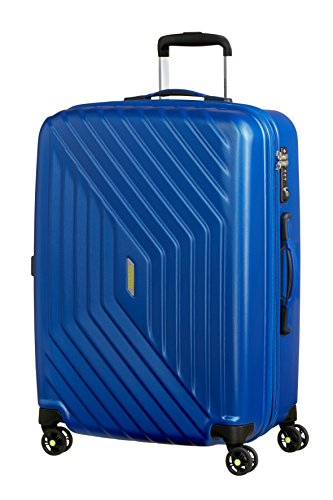 American Tourister - Air Force 1 Spinner 66/28 Espandibile 69/81L -Bagaglio a Mano  3.6 KG, Blu (Insignia Blue)