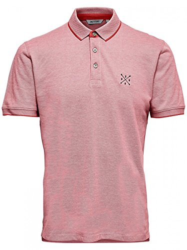 ONLY & SONS Herren T-Shirt Onsstan SS Fitted Polo Tee NOOS Rot (Cranberry