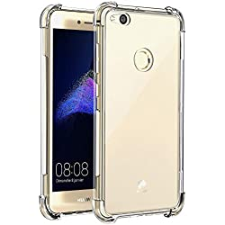Coque Huawei P8 Lite, J Jecent [Liquid Crystal] Transparent Gel Silicone TPU Souple Bumper Case Cover de Protection Clear Surface Housse Etui Anti-Choc et Anti-Rayures et Protection - Transparent