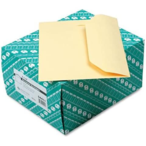 Open Side Booklet Envelope, Traditional, 12 x 9, Cameo Buff, 100/Box