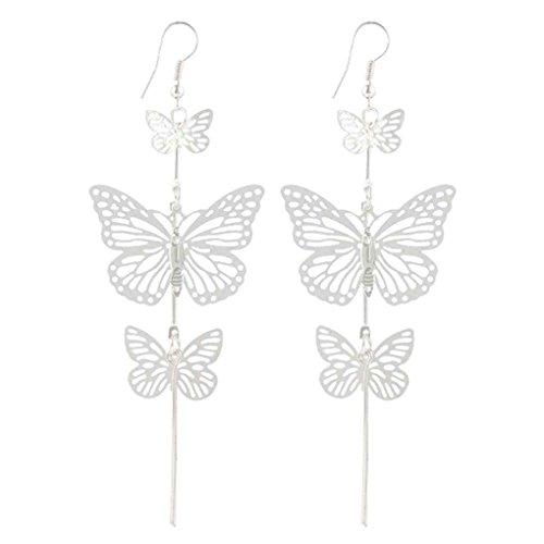 Forbestest 1 Par Encantador Mujeres Mariposa Cuelga