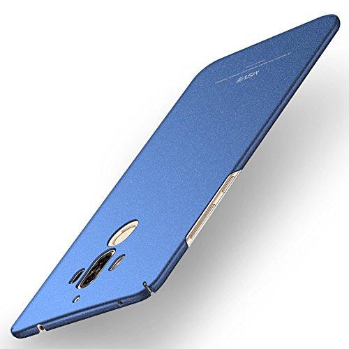 Huawei Mate 9 Hülle, MSVII® PC Kunststoff Härte Hülle Schutzhülle Case Und Displayschutzfolie für Huawei Mate 9 - Rose Gold JY30020 Blau