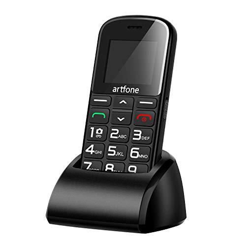 Artfone CS182 Mobiltelefon Senioren-Handy mit großen Tasten und ohne Vertrag, Mit Notruf-Knopf und 1400 mAh Akku Handy-taste