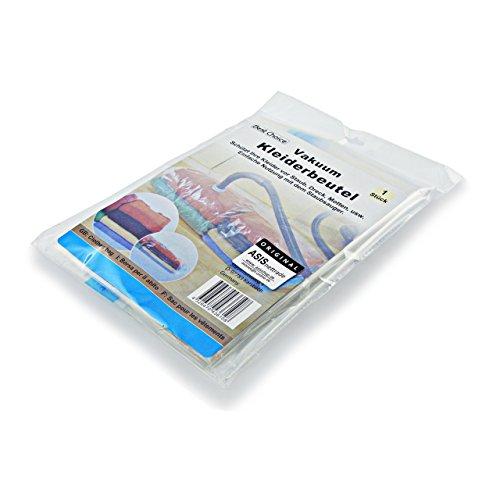 ASIS nettrade Vakuum Kleiderbeutel Aufbewahrungsbeutel für Kleider und Wäsche - 3 Stück - 85 x 53 cm - Reduziert Das Volumen um 75%!