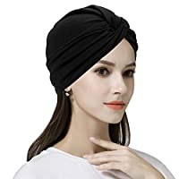 Cotton Chemo Cap for Women Cancer Turban Headwear Head Wrap Muslim Hijab